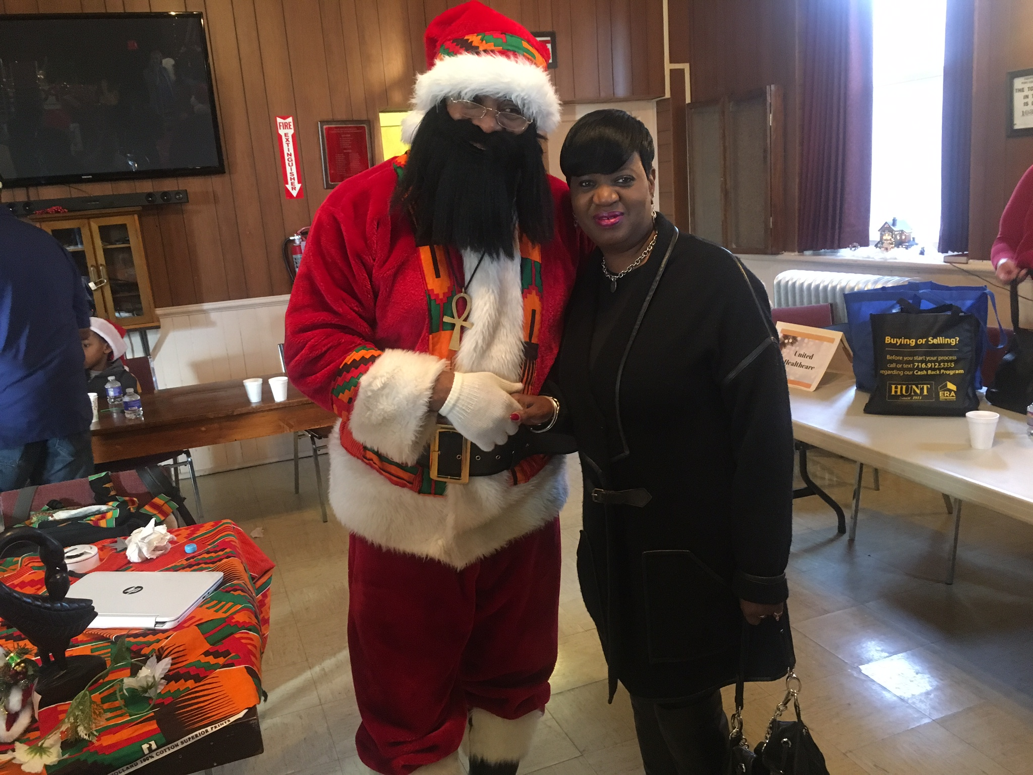 Kente Claus and Friend